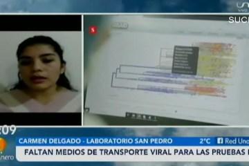 FALTAN MEDIOS DE TRANSPORTE VIRAL PARA LAS PRUEBAS PCR