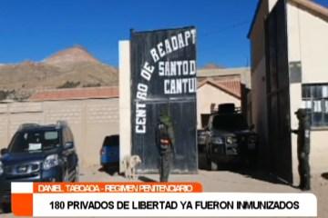 180 PRIVADOS DE LIBERTAD YA FUERON INMUNIZADOS