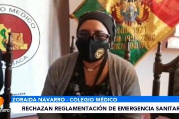 RECHAZAN REGLAMENTACIÓN DE EMERGENCIA SANITARIA