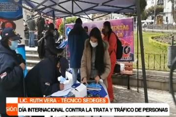 DÍA INTERNACIONAL CONTRA LA TRATA Y TRÁFICO DE PERSONAS