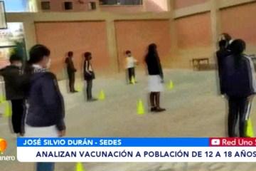 ANALIZAN VACUNACIÓN A POBLACIÓN DE 12 A 18 AÑOS