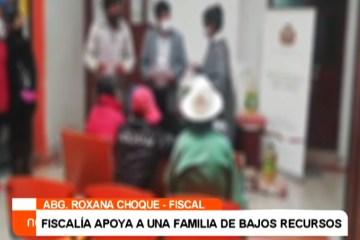 FISCALÍA APOYA A UNA FAMILIA DE BAJOS RECURSOS