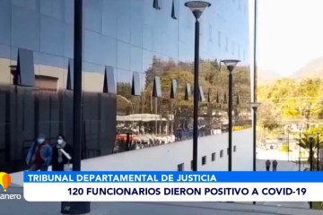 120 FUNCIONARIOS DEL TDJ DIERON POSITIVO A COVID 19