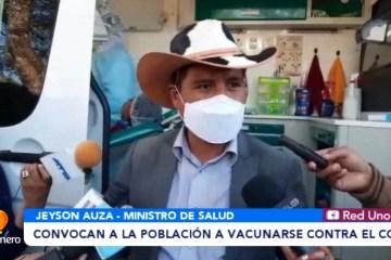 MINISTRO DE SALUD CONVOCA A LA POBLACIÓN A VACUNARSE