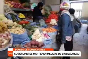 COMERCIANTES MANTIENEN MEDIDAS DE BIOSEGURIDAD