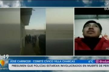 PRESUMEN QUE POLICÍAS ESTÁN INVOLUCRADOS EN LA MUERTE DE UNA PERSONA