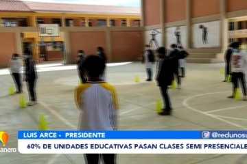 60% DE UNIDADES EDUCATIVAS PASAN CLASES SEMIPRESENCIALES
