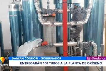 ENTREGARÁN 100 TUBOS A LA PLANTA DE OXÍGENO DE SUCRE