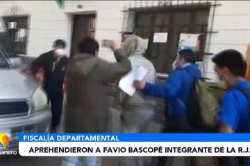 APRENDIERON A FAVIO BASCOPÉ INTEGRANTE DE LA R.J.C.