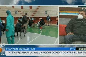 INTENSIFICARAN LA VACUNACIÓN COVID Y CONTRA EL SARAMPIÓN