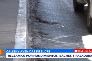 RECLAMAN POR HUNDIMIENTO, BACHES Y RAJADURAS