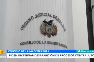 PIDEN INVESTIGAR DESAPARICIÓN DE PROCESOS CONTRA JUECES