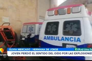 JOVEN PERDIÓ EL SENTIDO DEL OÍDO POR LAS EXPLOSIONES