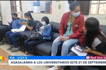 AGASAJARÁN A LOS UNIVERSITARIOS ESTE 21 DE SEPTIEMBRE