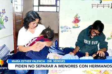 PIDEN NO SEPARAR A MENORES CON HERMANOS