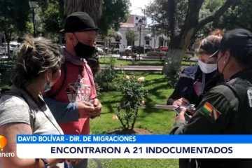 ENCONTRARON 21 PERSONAS INDOCUMENTADAS