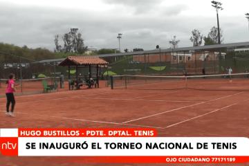 SE INAUGURÓ EL TORNEO NACIONAL DE TENIS