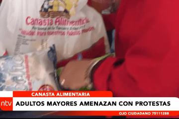 CANASTA ALIMENTARIA: ADULTOS MAYORES AMENAZAN CON PROTESTA