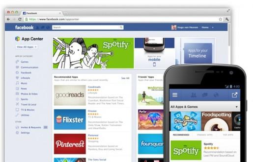 Facebook inaugura su tienda de aplicaciones
