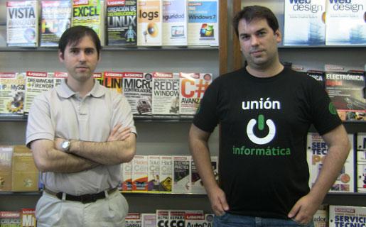 Christian García y Pablo Dorín, de Unión Informática, en la redacción de RedUSERS en septiembre pasado.