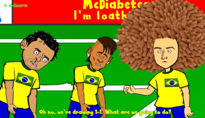 brazil croatia 3-1 cartoon