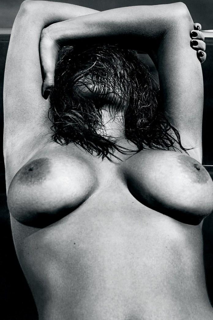 Kim-Kardashian-Nude-And-Eyebrowless-In-Love-Magazine-01-760x1140