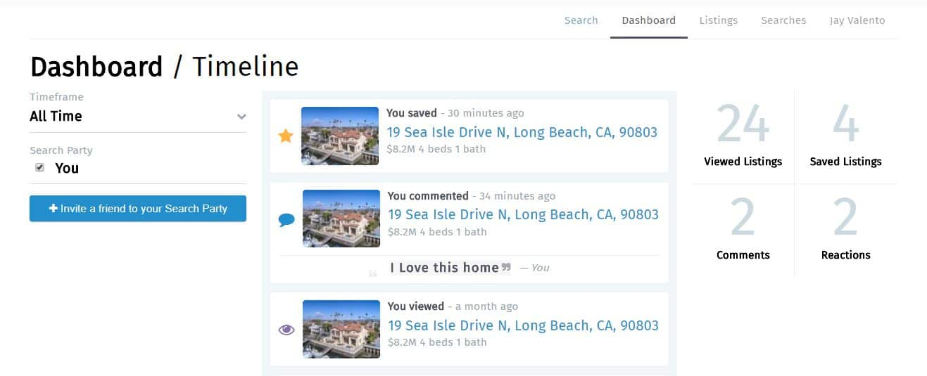 Southern California Home Searching Dashboard