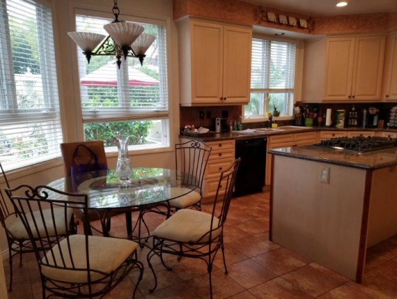 Kitchen highlighting breakfast nook Fullerton Homes