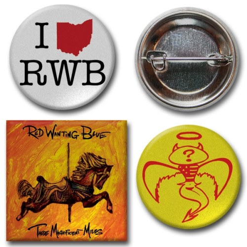 Red Wanting Blue Button Pack