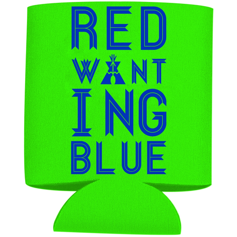 Red Wanting Blue Koozie 2015