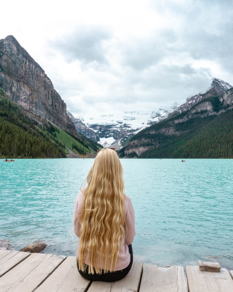 Amazing views from Lake Louise hotel.