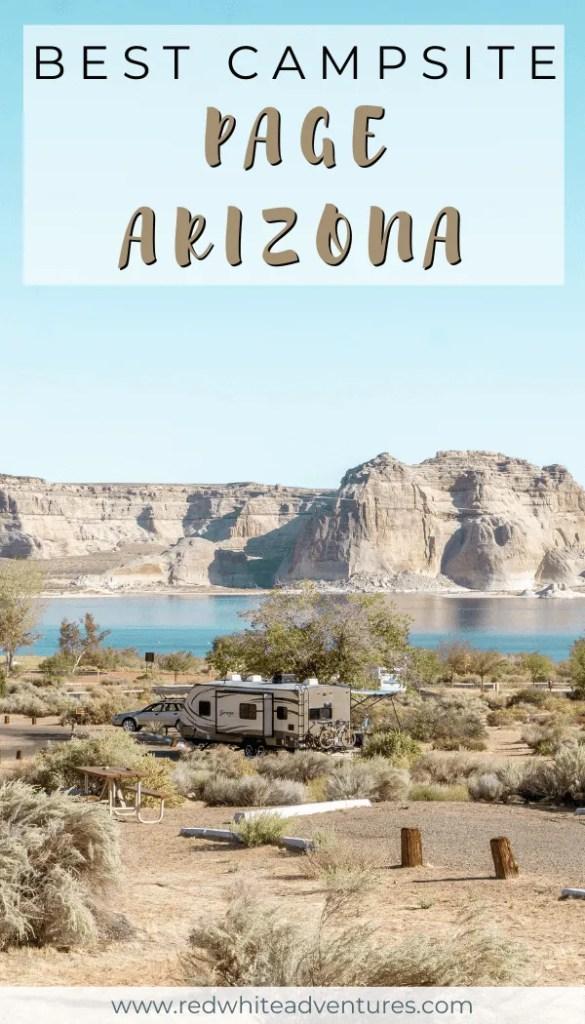 Pin for Pinterest of Camping in Page Arizona