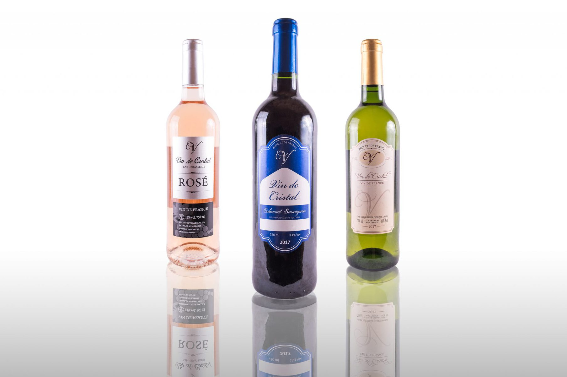 Product photograph of wine bottles
