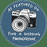 find a wedding photographer in suffolk badge