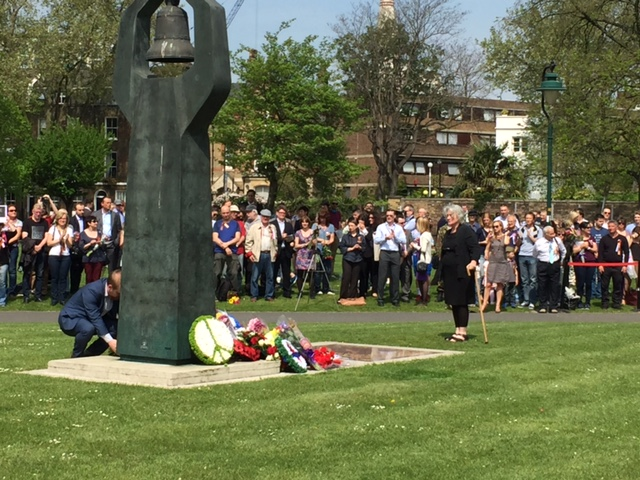 CPGB-ML lay a wreath at the Soviet Memorial