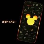 アイフォン5【光るライトケース ミッキーシルエットタイプ】