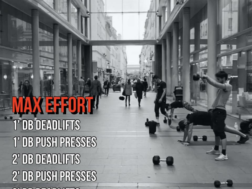 push press deadlift