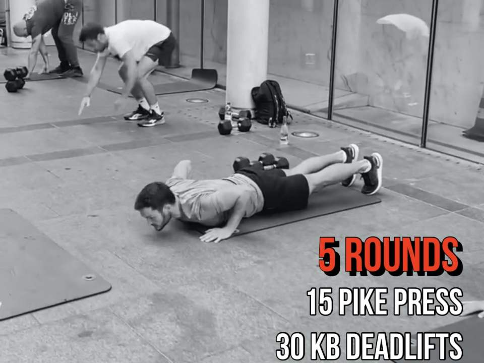 KB Deadlift Pike Press Double Under