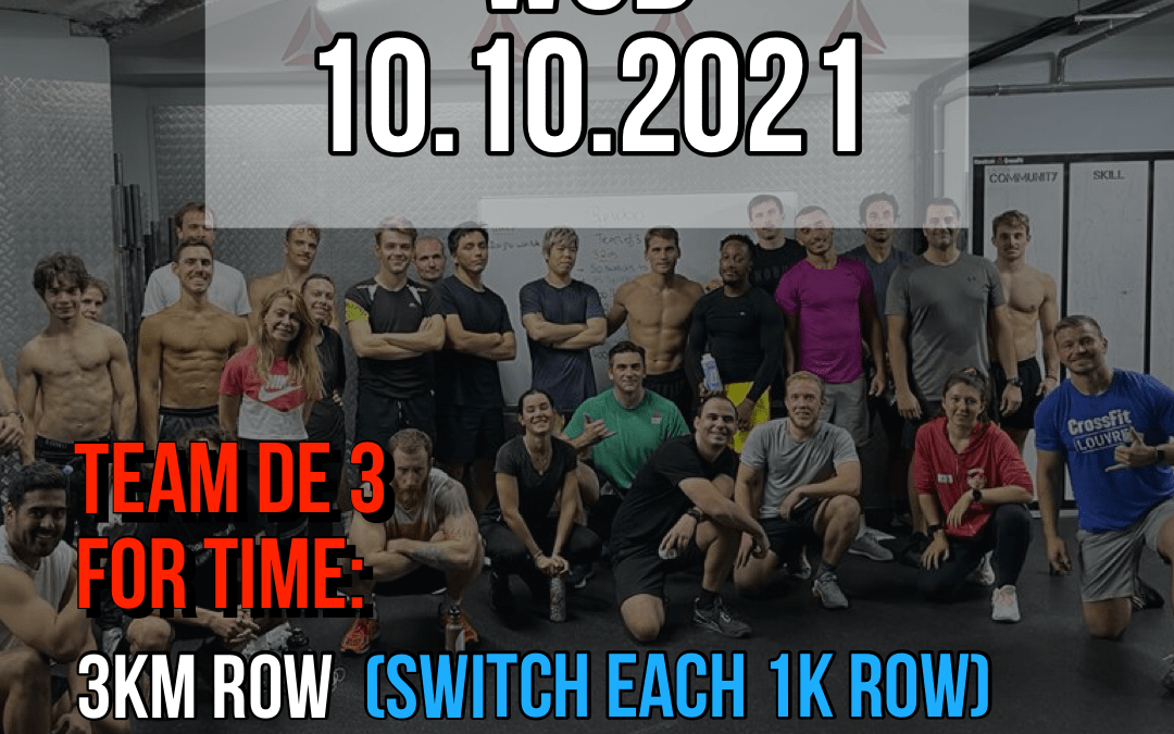 For Time Row Wall Sit DB Step Over Team of 3
