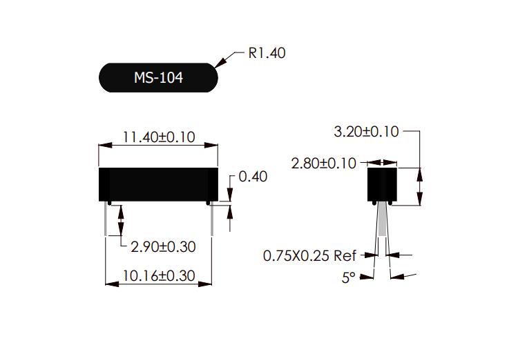 MS-104 PCB Mountable Reed Sensor