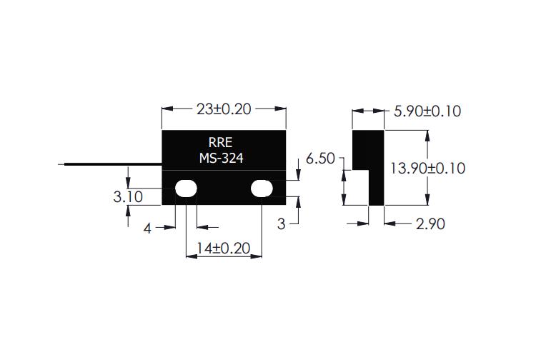 MS-324 Magnet Sensor Drawing