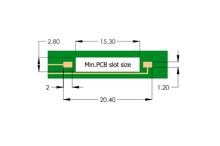 Drawing of R2-F Reed Sensor Pad Layout