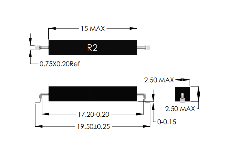 Drawing of R2-S Reed Sensor