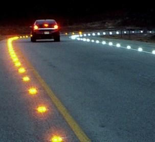In-road Warning Lights