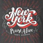 praise alive new york tshirt grey