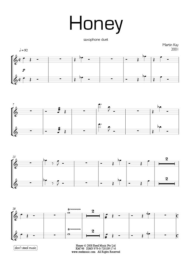 alto and tenor sax duets pdf