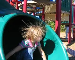 """Static electricity makes for a """"bad hair day"""""""