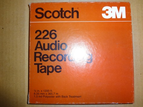Scotch 3M 226 Audio Recording Tape reel to reel 1:4 in x 1200 ft