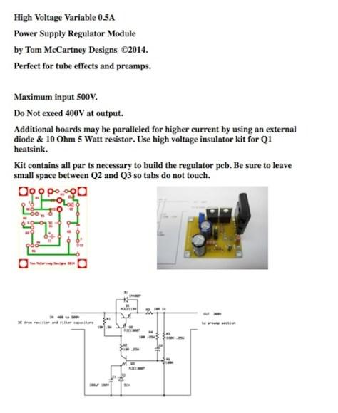 High Voltage Variable PSU Kit