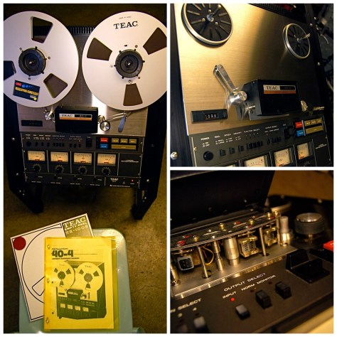 front views TASCAM 40-4 TEAC record playback heads with owners manual